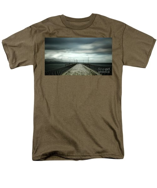 Men's T-Shirt  (Regular Fit) featuring the photograph Cloudy Pier by Perry Webster
