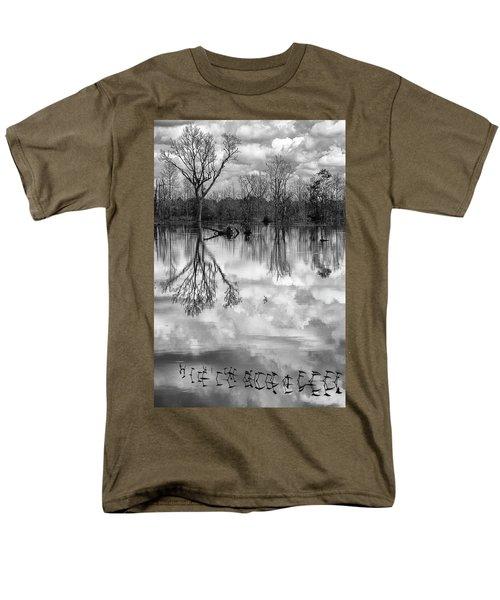 Cloudy Reflection Men's T-Shirt  (Regular Fit) by Hitendra SINKAR