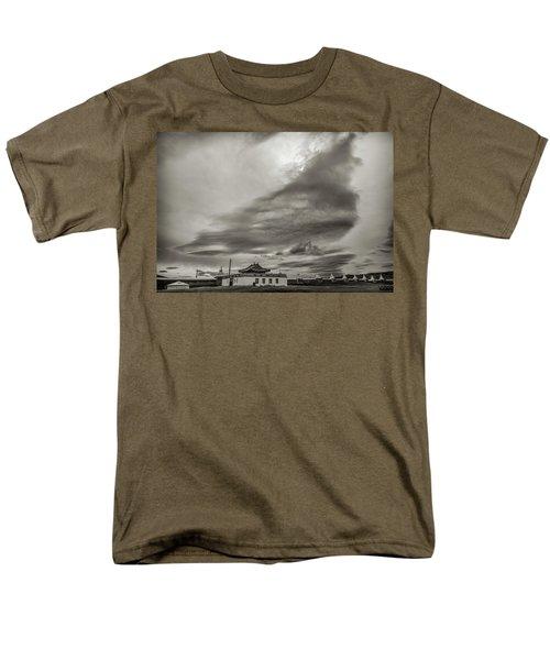 Men's T-Shirt  (Regular Fit) featuring the photograph Cloudy Sky, Karakorum, 2016 by Hitendra SINKAR