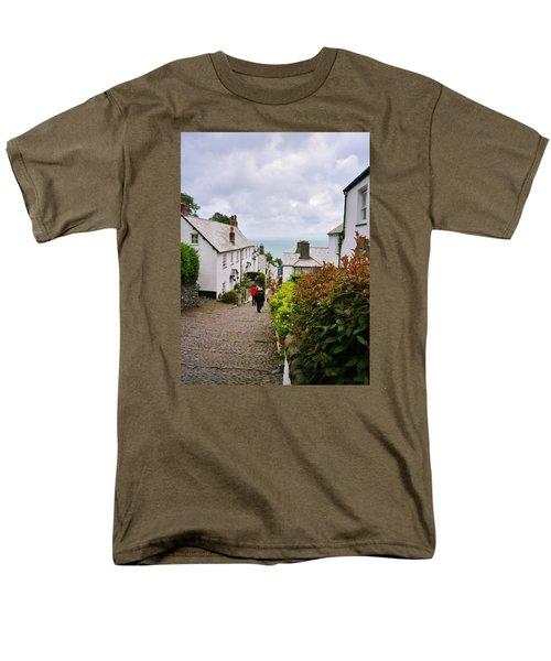 Clovelly High Street Men's T-Shirt  (Regular Fit) by Richard Brookes