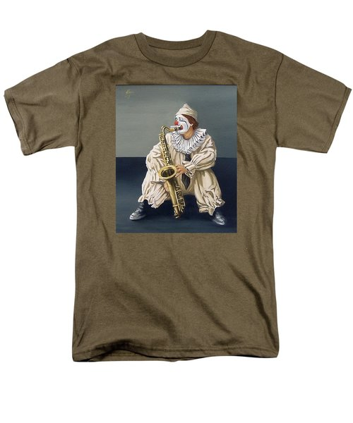 Men's T-Shirt  (Regular Fit) featuring the painting Clown by Natalia Tejera