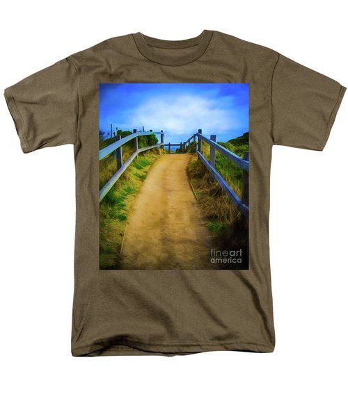 Men's T-Shirt  (Regular Fit) featuring the photograph Coast Path by Perry Webster
