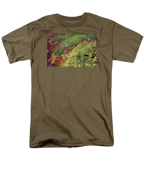 Coastal Flowers And Ice Plant Men's T-Shirt  (Regular Fit) by Ted Pollard