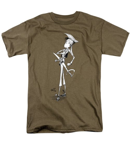 Cocky Pirate Men's T-Shirt  (Regular Fit) by Andy Catling