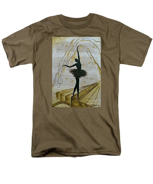 Men's T-Shirt  (Regular Fit) featuring the painting Coffee Ballerina by AmaS Art