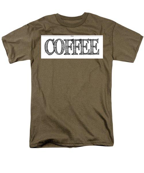 Coffee Fill Line Mug 2 Men's T-Shirt  (Regular Fit) by Robert J Sadler