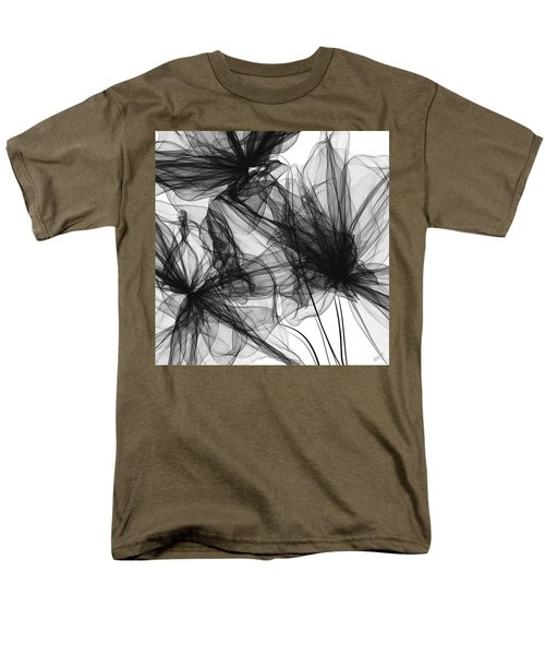 Coherence - Black And White Modern Art Men's T-Shirt  (Regular Fit) by Lourry Legarde
