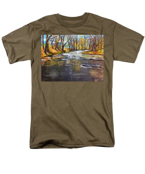 Cold Day At The Creek Men's T-Shirt  (Regular Fit) by Annamarie Sidella-Felts