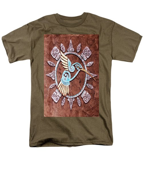 Men's T-Shirt  (Regular Fit) featuring the painting Colibri by J- J- Espinoza