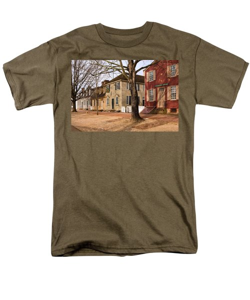 Colonial Street Scene Men's T-Shirt  (Regular Fit) by Sally Weigand