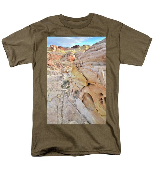Color At Valley Of Fire State Park Men's T-Shirt  (Regular Fit) by Ray Mathis
