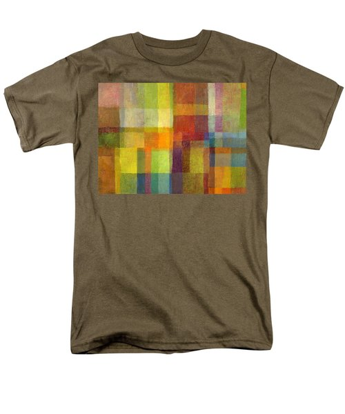 Color Collage With Green And Red 2.0 Men's T-Shirt  (Regular Fit) by Michelle Calkins