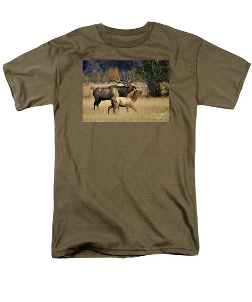 Colorado Elk  Men's T-Shirt  (Regular Fit) by Nava Thompson