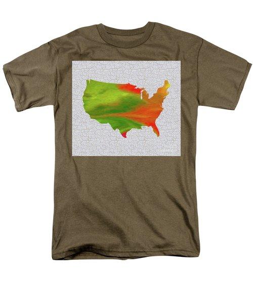 Colorful Art Usa Map Men's T-Shirt  (Regular Fit) by Saribelle Rodriguez
