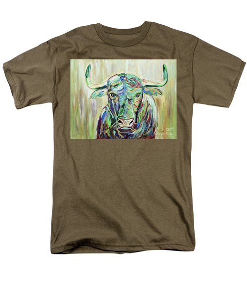 Men's T-Shirt  (Regular Fit) featuring the painting Colorful Bull by Jeanne Forsythe