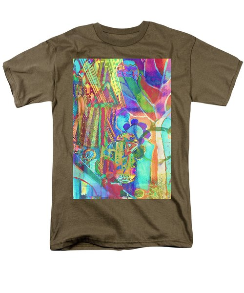 Colorful Cafe Abstract Men's T-Shirt  (Regular Fit) by Susan Stone
