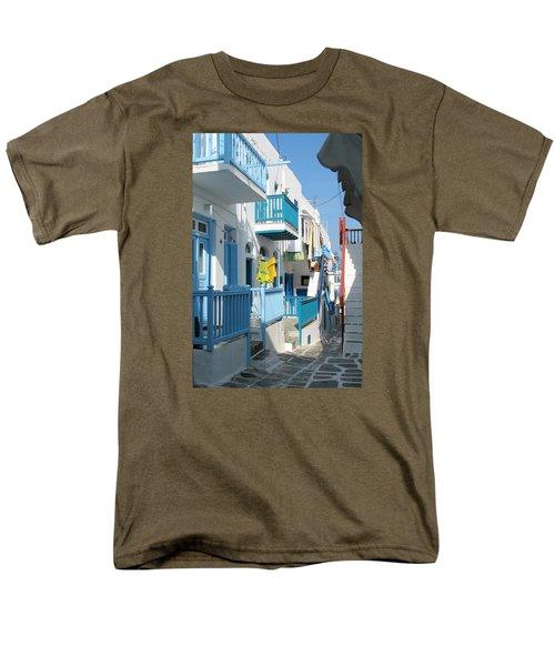 Men's T-Shirt  (Regular Fit) featuring the photograph Colorful Mykonos by Carla Parris