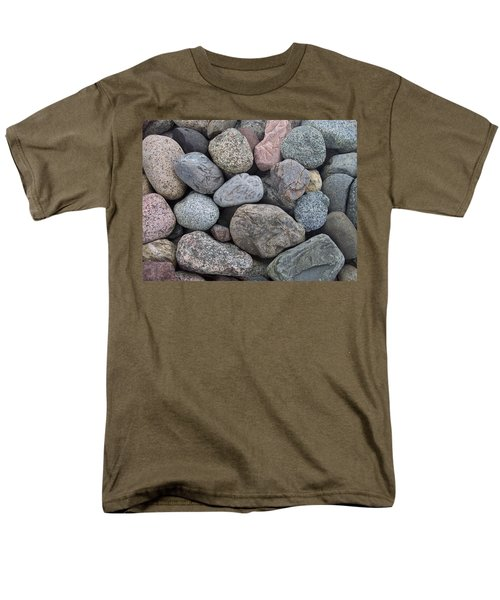 Men's T-Shirt  (Regular Fit) featuring the photograph Colorful Rocks by Richard Bryce and Family