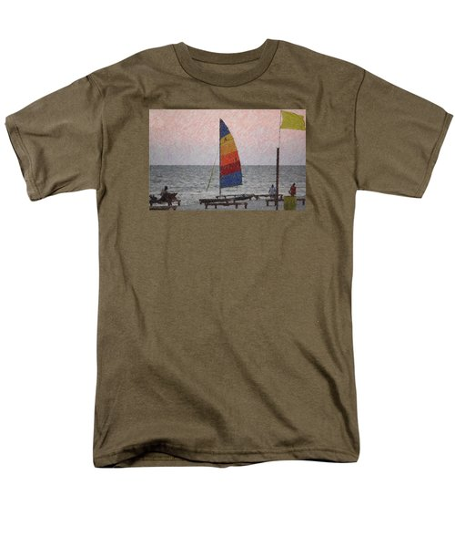 Men's T-Shirt  (Regular Fit) featuring the photograph Colorful Sails by Donna G  Smith