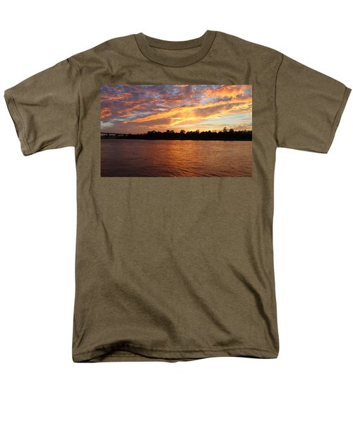 Men's T-Shirt  (Regular Fit) featuring the photograph Colorful Sky At Sunset by Cynthia Guinn
