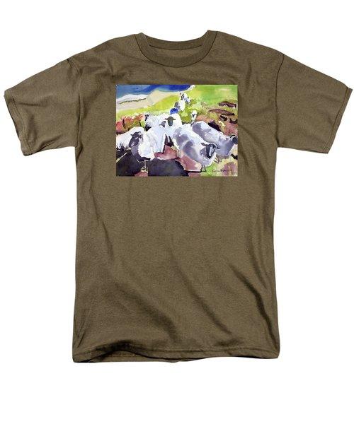 Colorful Waiting Sheep Men's T-Shirt  (Regular Fit)