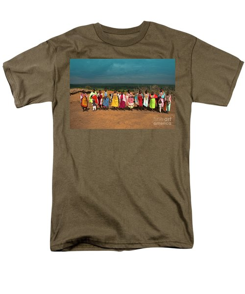 Men's T-Shirt  (Regular Fit) featuring the photograph Colors And Faces Of The Masai Mara by Karen Lewis