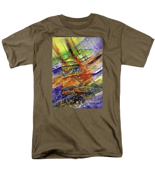 Men's T-Shirt  (Regular Fit) featuring the painting Colors Interrupting by Allison Ashton