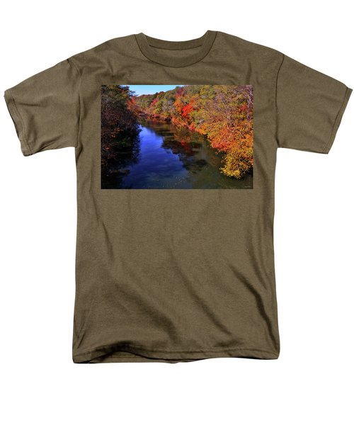 Colors Of Nature - Fall River Reflections 001 Men's T-Shirt  (Regular Fit) by George Bostian