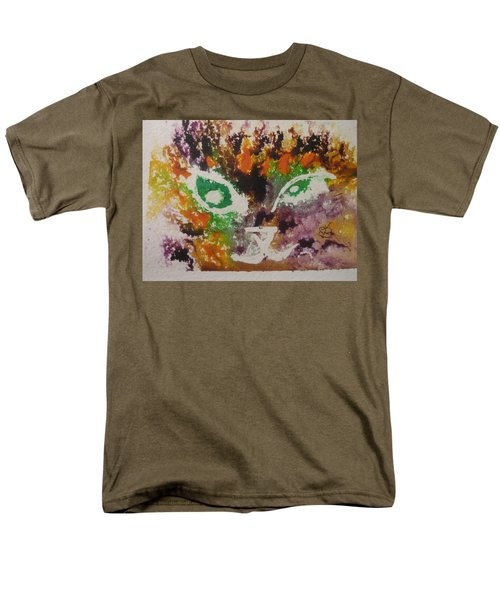 Colourful Cat Face Men's T-Shirt  (Regular Fit) by AJ Brown