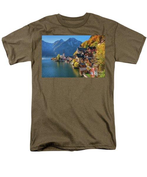 Colourful Hallstatt Men's T-Shirt  (Regular Fit) by JR Photography