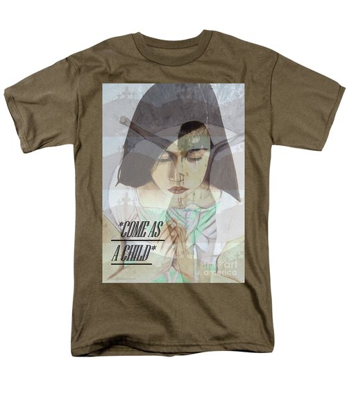 Come As A Child Men's T-Shirt  (Regular Fit) by Saribelle Rodriguez