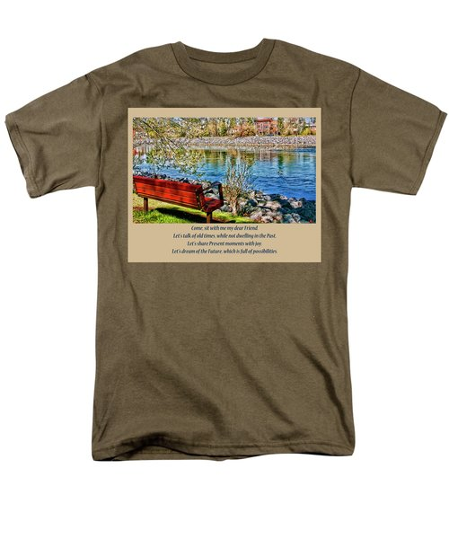 Come, Sit With Me My Dear Friend Men's T-Shirt  (Regular Fit) by Rhonda McDougall