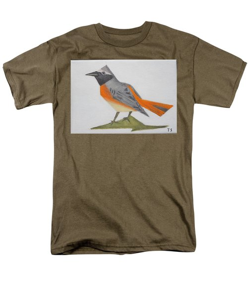 Common Redstart Men's T-Shirt  (Regular Fit) by Tamara Savchenko