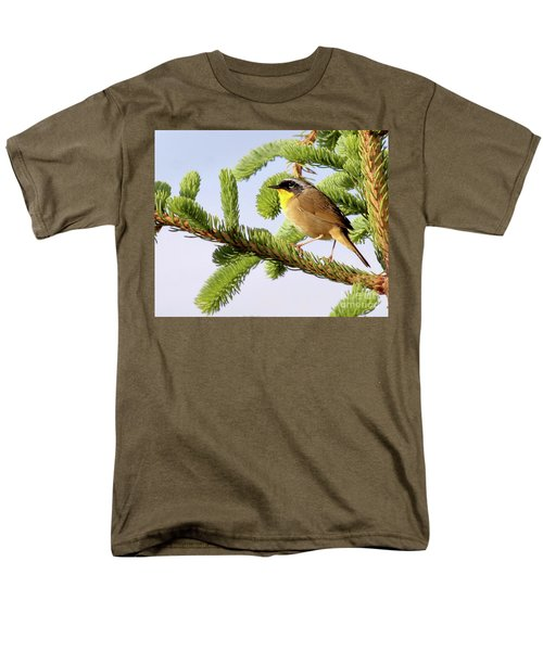 Common Yellow-throat Men's T-Shirt  (Regular Fit) by Debbie Stahre