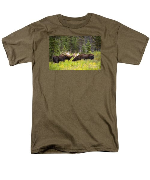 Men's T-Shirt  (Regular Fit) featuring the photograph The Competition  by Aaron Whittemore