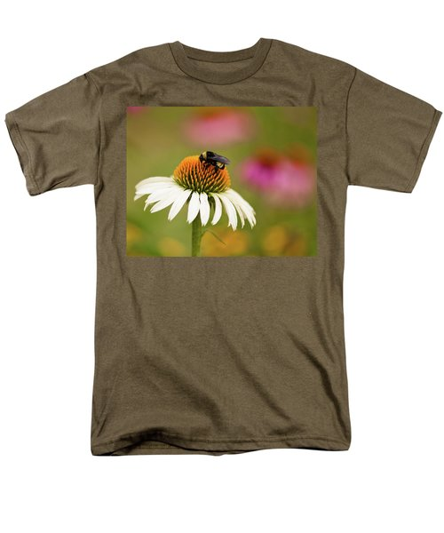 Coneflower And Bee Men's T-Shirt  (Regular Fit) by Phyllis Peterson
