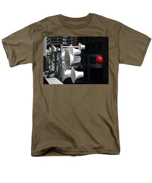 Men's T-Shirt  (Regular Fit) featuring the photograph Conical Sculpture Stranger by Christopher McKenzie