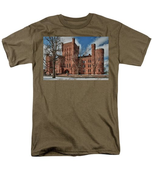 Men's T-Shirt  (Regular Fit) featuring the photograph Connecticut Street Armory 3997a by Guy Whiteley