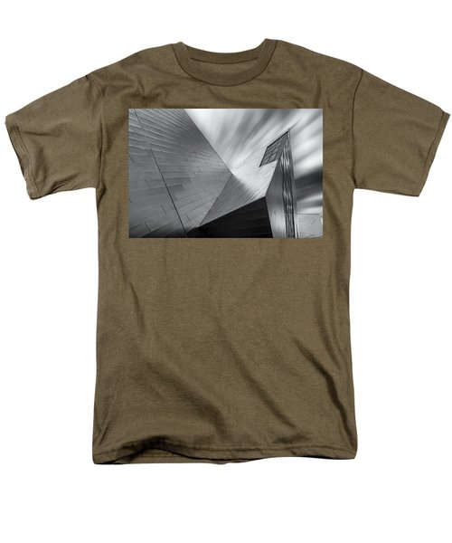 Men's T-Shirt  (Regular Fit) featuring the photograph Contemporary Architecture Of The Shops At Crystals, Aria, Las Ve by Adam Romanowicz