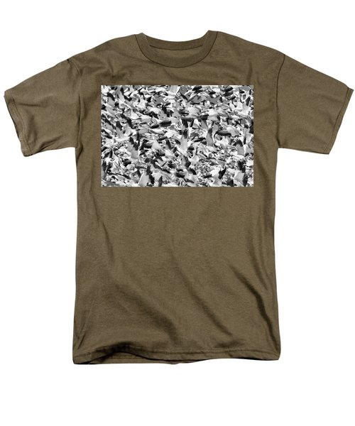 Men's T-Shirt  (Regular Fit) featuring the photograph Controlled Chaos Bw by Everet Regal