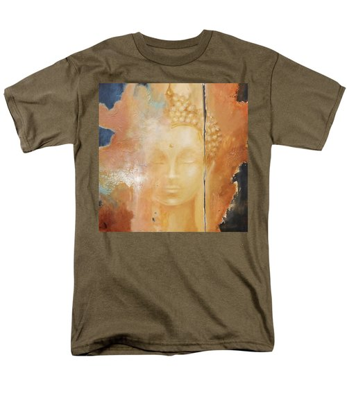 Men's T-Shirt  (Regular Fit) featuring the painting Copper Buddha by Dina Dargo