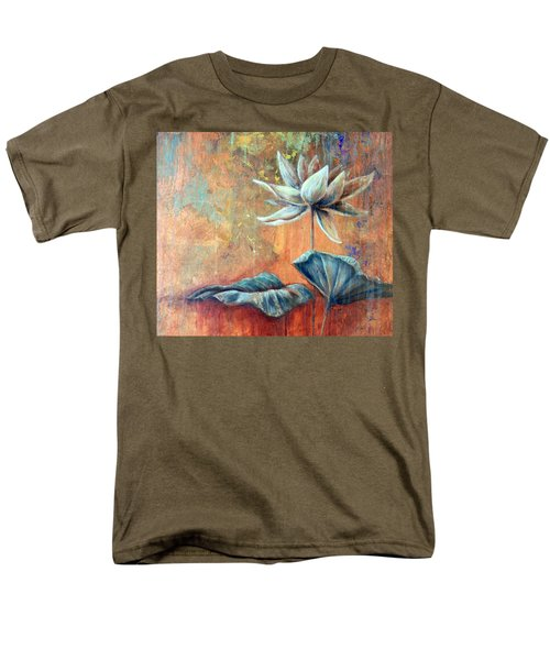 Copper Lotus Men's T-Shirt  (Regular Fit) by Ashley Kujan