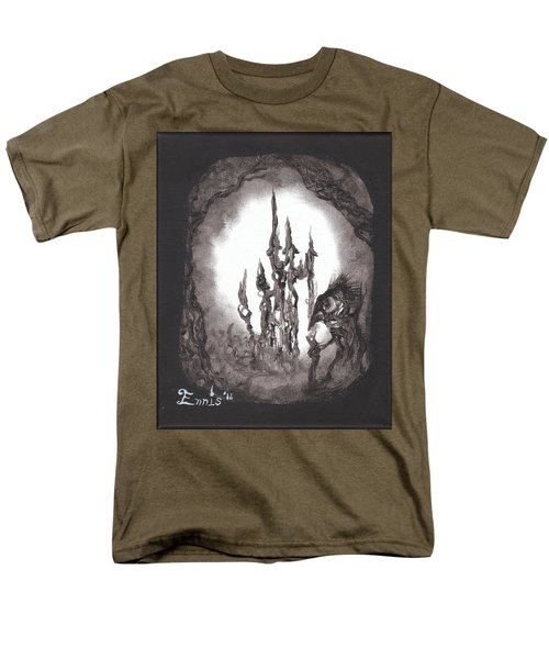 Men's T-Shirt  (Regular Fit) featuring the painting Coral Castle by Christophe Ennis
