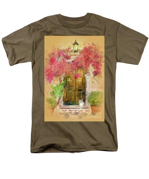Men's T-Shirt  (Regular Fit) featuring the digital art Corfu Kitty by Lois Bryan