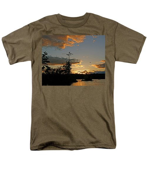 Men's T-Shirt  (Regular Fit) featuring the photograph Cormorant Tree by Lynda Lehmann