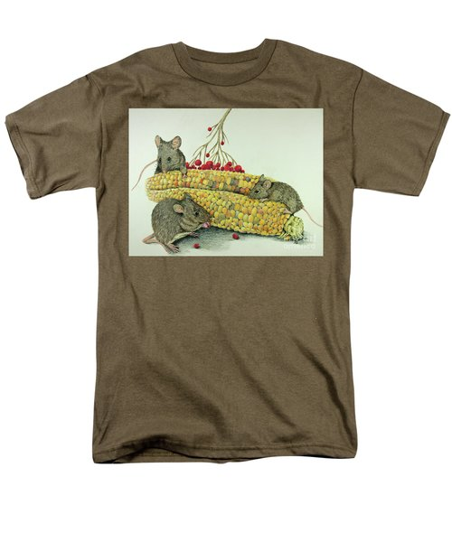 Men's T-Shirt  (Regular Fit) featuring the drawing Corn Meal by Terri Mills