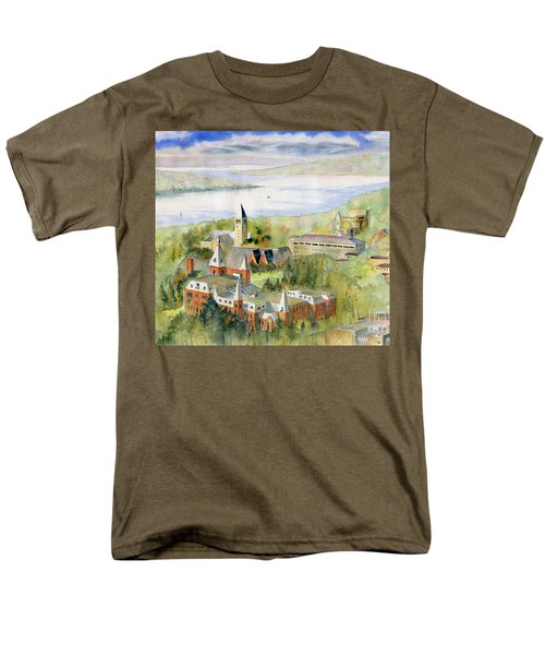 Cornell University Men's T-Shirt  (Regular Fit) by Melly Terpening