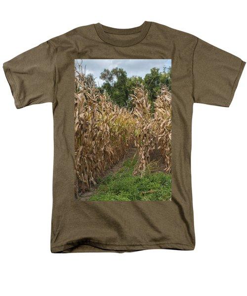 Men's T-Shirt  (Regular Fit) featuring the photograph Cornstalks by Arlene Carmel