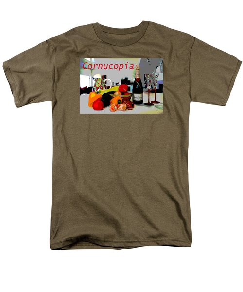 Men's T-Shirt  (Regular Fit) featuring the mixed media Cornucopia by Charles Shoup