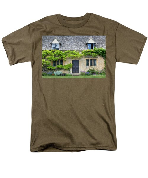 Men's T-Shirt  (Regular Fit) featuring the photograph Cotswolds Cottage Home II by Brian Jannsen